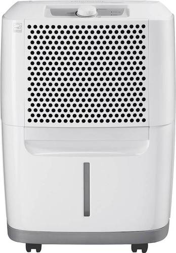 Frigidaire - 30-Pint Portable Dehumidifier - White Energy Star CertifiedEffortless™ continuous drain optionEffortless™ automatic shut-offEffortless™ full-tank alert systemSpaceWise® portable design