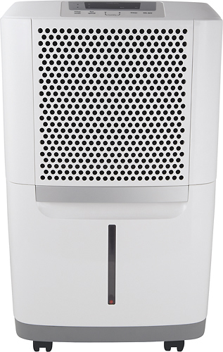 Frigidaire - 70-Pint Dehumidifier - White ENERGY STAR Certified Removes up to 70 pints of water per day; electronic Ready-Select controls; Effortless technologies; SpaceWise portable design; antibacterial mesh filter; 2 fan speeds