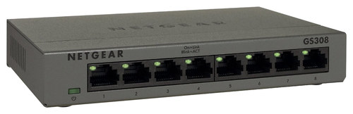 NETGEAR - 8-Port 10/100/1000 Mbps Gigabit Unmanaged Switch - Silver NETGEAR 300 Series Unmanaged SOHO 8-Port 10/100/1000 Gigabit Switch: Wired; 10/100/1000BASE-T Gigabit Ethernet; provides network connectivity for up to 8 computers; auto MDI/MDIX; auto negotiation
