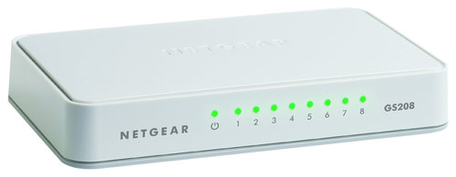 NETGEAR - 8-Port 10/100/1000 Mbps Gigabit Unmanaged Switch - White NETGEAR 200 Series Unmanaged SOHO 8-Port 10/100/1000 Gigabit Switch: Wired; 10/100/1000BASE-T Gigabit Ethernet; provides network connectivity for up to 8 computers; auto MDI/MDIX; auto negotiation