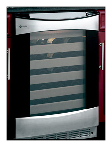 GE - Profile 57-Bottle Wine Cellar - Stainless (with black case)