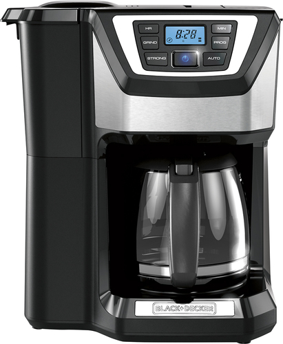 Black & Decker - Mill & Brew 12-Cup Coffeemaker - Black/Silver