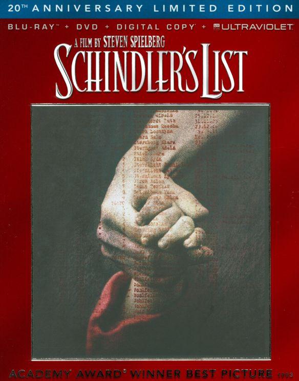 Schindler's List [20th Anniversary] [3 Discs] [Blu-ray/DVD] [1993] 8099049