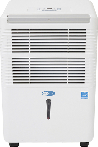 Whynter - 60-Pint Portable Dehumidifier - White Removes up to 60 pints of water per day; 4.9 amps; electronic controls; 2 fan speeds; auto off; auto restart; auto defrost; 2-in-1 silver-coated washable prefilter