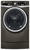 GE RightHeight 4.5 Cu. Ft. 12-Cycle Front-Loading Washer with Steam Metallic Carbon GFWR2705HMC