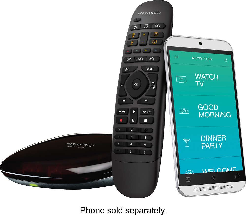Logitech Harmony Companion All In One Remote Control For Smart Home & Entertainment Devices, Hub & App, Works With Alexa – Black