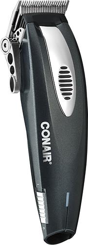 Conair - 20-Piece Lithium-Ion Hair Clipper Set - Black/Silver 8220173