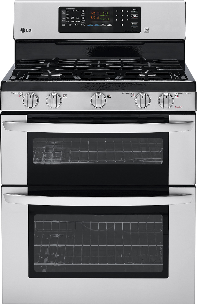 """LG 30"""" Self-Cleaning Freestanding Double Oven Gas Convection Range Stainless-Steel LDG3036ST"""