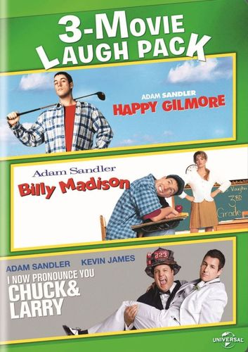 3-Movie Laugh Pack: Happy Gilmore/Billy Madison/I Now Pronounce You Chuck & Larry [2 Discs] [DVD] 8267319