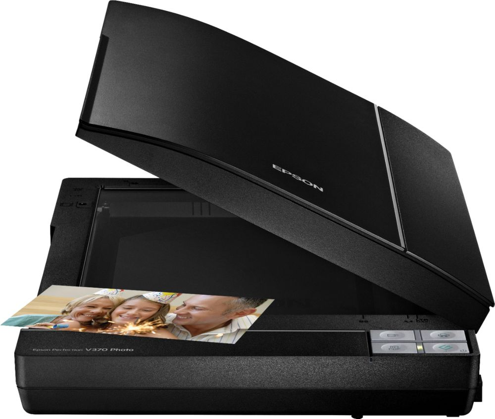 Epson B11B207221 Perfection V370 Flatbed Photo Scanner with Built-In Transparency Unit Black