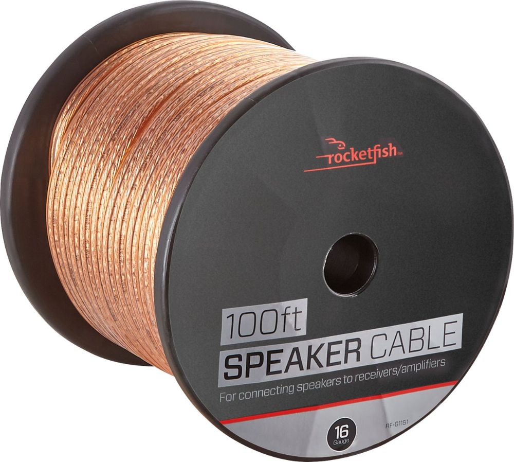 Rocketfish™ - 100 Speaker Wire - 16AWG - Gold - Corporate ...