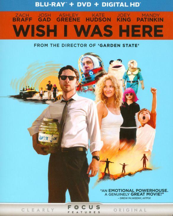 Wish I Was Here [2 Discs] [Includes Digital Copy] [UltraViolet] [Blu-ray/DVD] [2014] 8347987