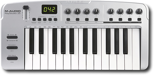 M-Audio - Session KeyStudio 25-Key USB Keyboard with Session Recording Studio Software