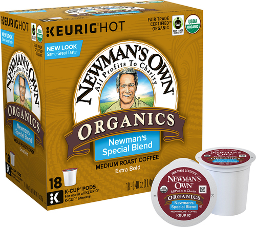 Newman's Own - K-Cup® Pods Newman's Own Organics Extra Bold Coffee for Keurig Brewers (18-Pack) - Multi 8464459
