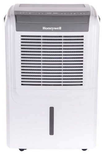 Honeywell - 50-Pint Dehumidifier - White HONEYWELL 50-Pint Dehumidifier: Removes up to 50 pints of water per day; simple digital controls with LED display; timer; auto shutoff; washable air filter; 2 fan speeds