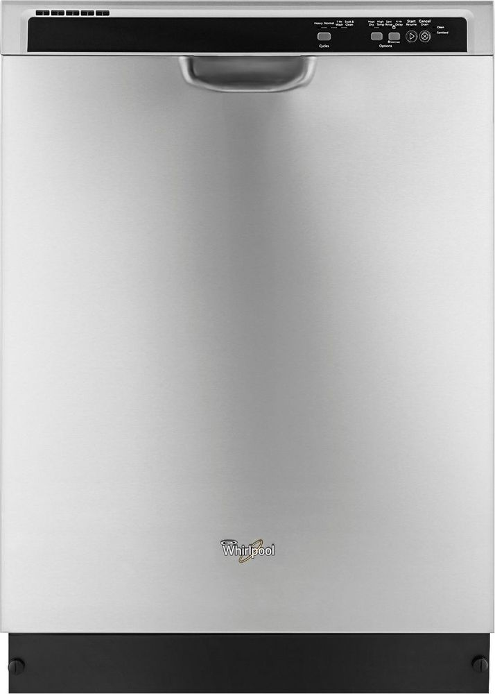 """Whirlpool 24"""" Tall Tub Built-In Dishwasher Monochromatic Stainless Steel WDF520PADM"""