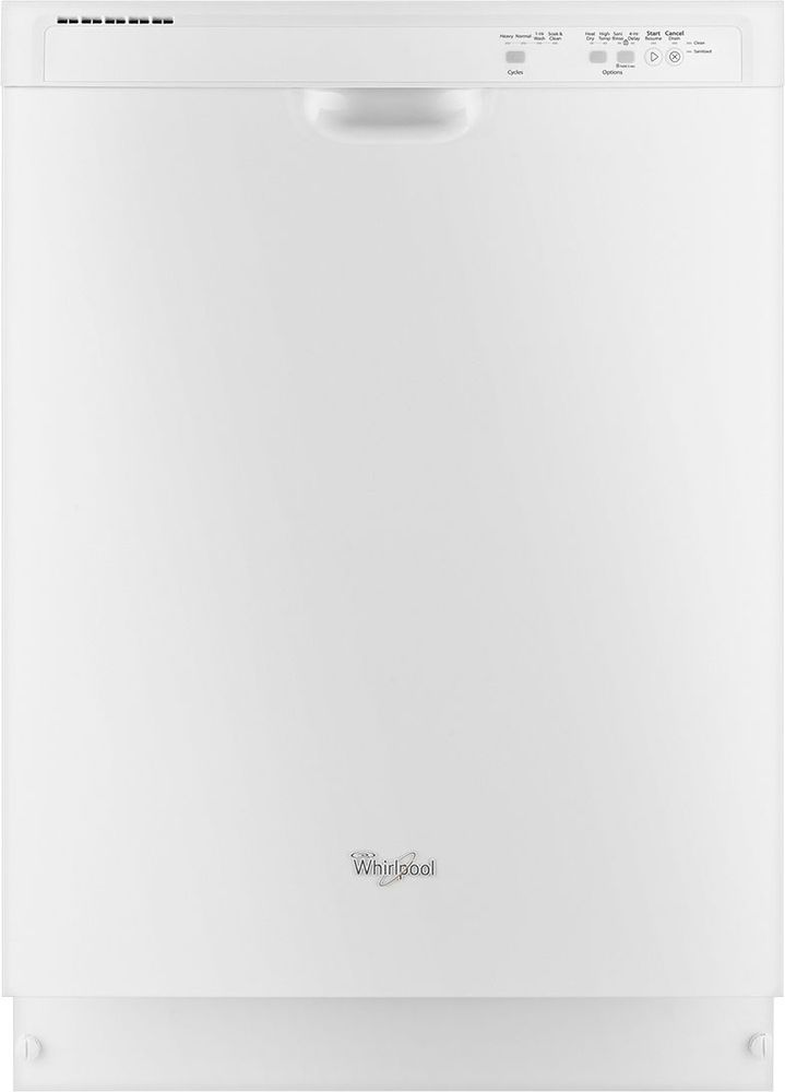 "Whirlpool WDF520PADW 24"" Tall Tub Built-In Dishwasher White"