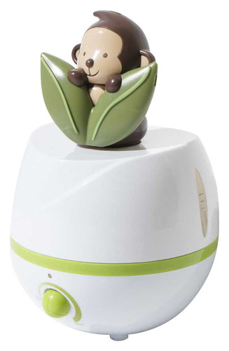 SPT - Adorable Monkey 0.66 Gal. Ultrasonic Cool Mist Humidifier - Green/White 8632257