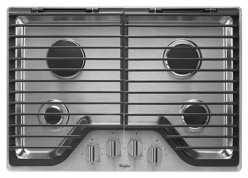 "Whirlpool - 30"" Built-In Gas Cooktop - Stainless steel"