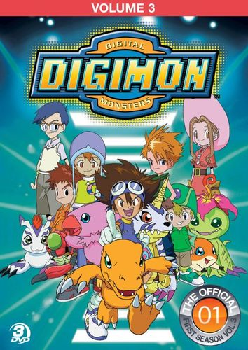 Digimon: Digital Monsters - The Offical First Season, Vol. 3 [3 Discs] [DVD] 8784339