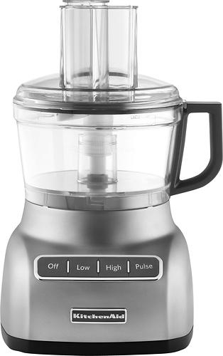 KitchenAid - KFP0711CU 7-Cup Food Processor - Contour Silver