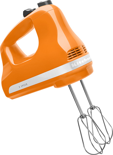 KitchenAid - KHM512TG 5-Speed Hand Mixer - Tangerine