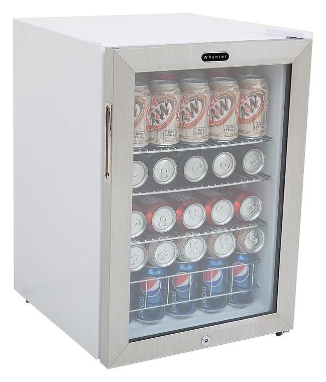 Whynter 90-Can Beverage Refrigerator White BR-091WS