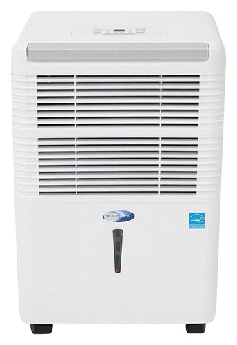 Whynter - 50-Pint Portable Dehumidifier - White WHYNTER 50-Pint Portable Dehumidifier: Removes up to 50 pints of water per day; 4.7 amps; electronic controls; 2-in-1 silver-coated washable prefilter combo; 2 fan speeds