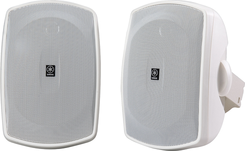 """Yamaha - Natural Sound 5"""" 2-Way All-Weather Outdoor Speakers (Pair) - White"""