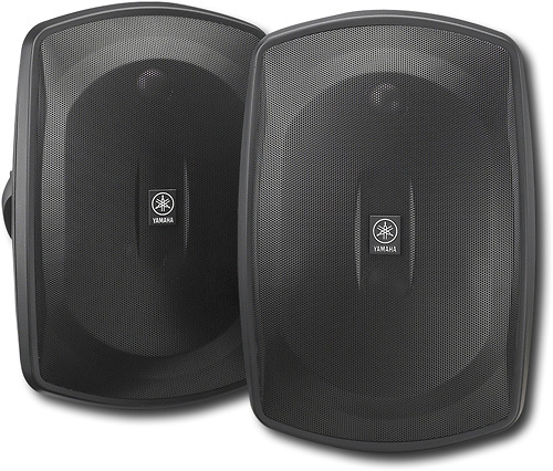 "Yamaha Natural Sound 5"" 2-Way All-Weather Outdoor Speakers (Pair) Black NS-AW190BL"