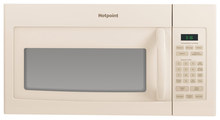 Hotpoint 1.6 Cu. Ft. Over-the-Range Microwave Bisque RVM5160DHCC