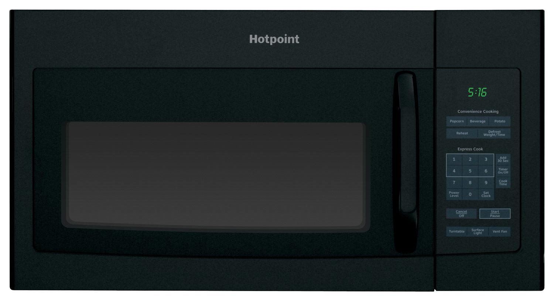 Hotpoint 1.6 Cu. Ft. Over-the-Range Microwave Black RVM5160DHBB