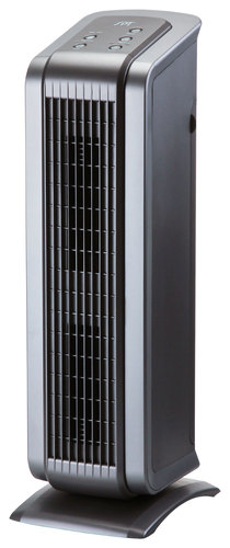 SPT - HEPA/VOC Tower Air Purifier - Black/Pewter 8912113