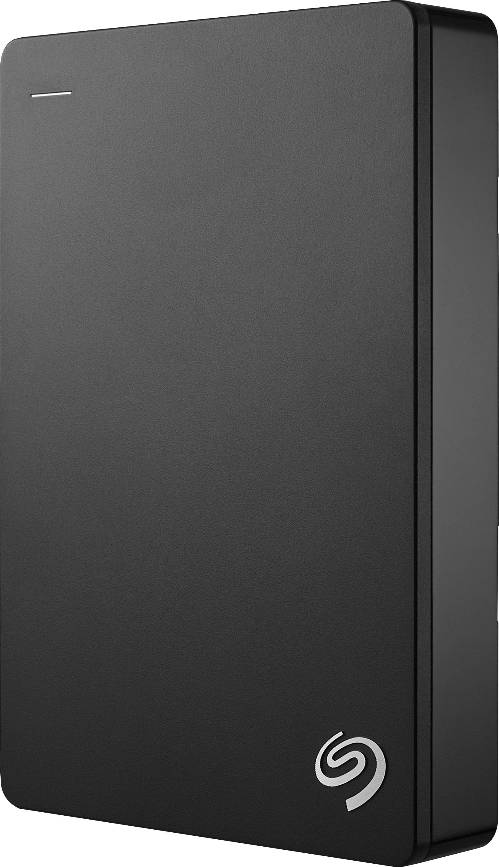 Seagate - Backup Plus Slim 4TB External USB 3.0/2.0 Portable Hard Drive - Black