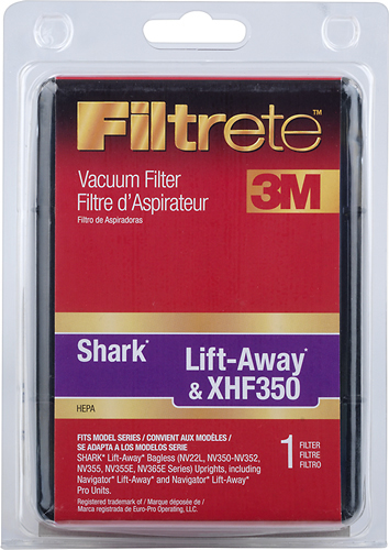 Image of 3M - Filtrete HEPA Shark Lift-Away and XHF350 Filter for Select Bagless Upright Vacuums - Black