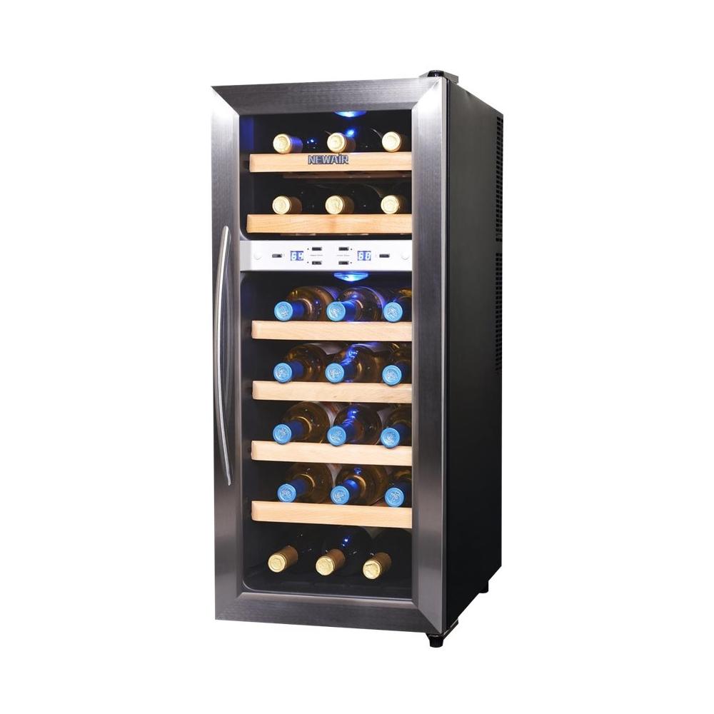 NewAir 21-Bottle Wine Cooler Black/Stainless Steel AW-211ED