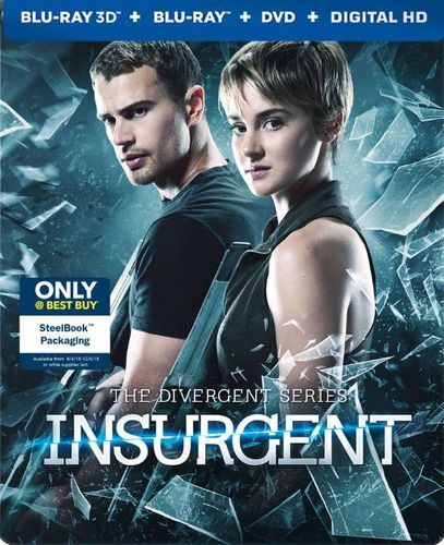 The Divergent Series: Insurgent [3D] [Ultraviolet] [Blu-ray/DVD] [SteelBook] [Only @ Best Buy] [Blu-ray/Blu-ray 3D/DVD] [2015] 9026034
