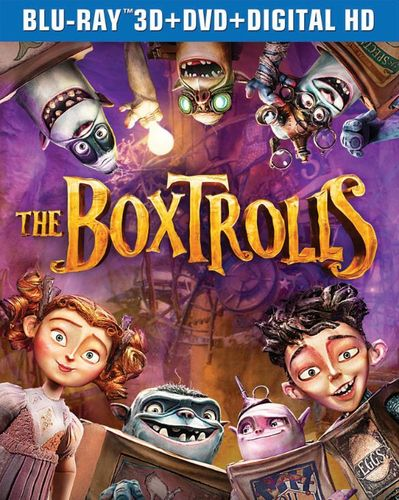 The Boxtrolls [3 Discs] [Includes Digital Copy] [Ultraviolet] [3D] [Blu-ray/DVD] [Blu-ray/Blu-ray 3D/DVD] [2014] 9080231