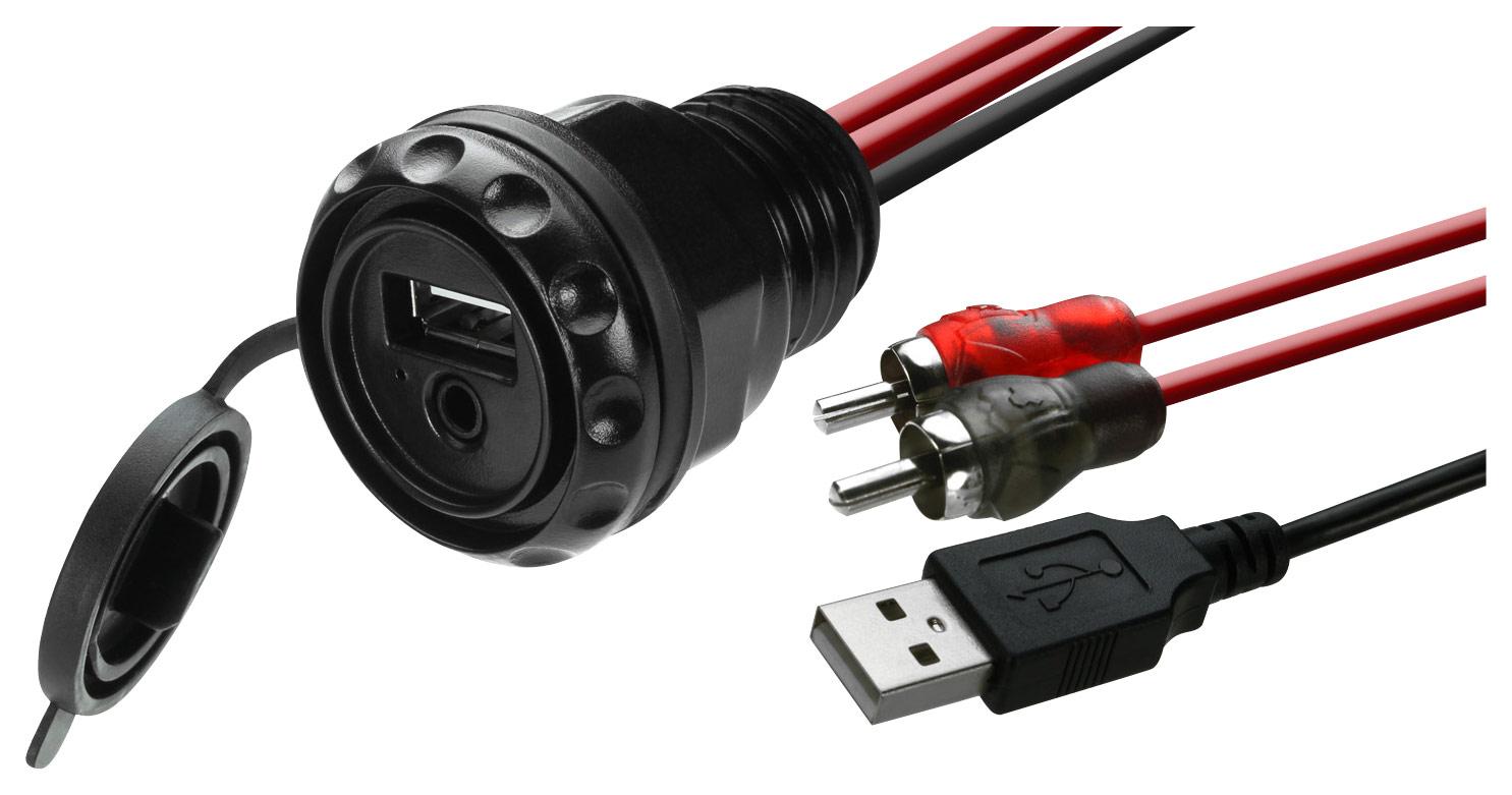 MB Quart - Dual-Input Accessory Plug - Black