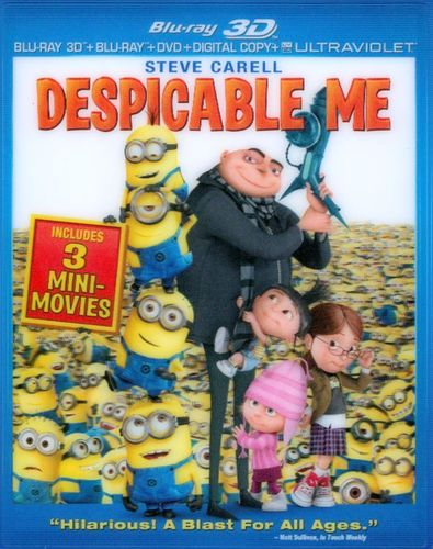 Despicable Me [Includes Digital Copy] [UltraViolet] [With Fandango Cash] [3D] [Blu-ray/DVD] [Blu-ray/Blu-ray 3D/DVD] [2010] 9188058