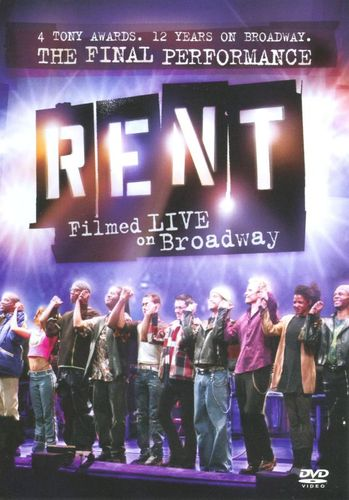 Rent: Filmed Live on Broadway [WS] [DVD] [2008] 9193259