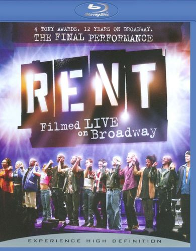 Rent: Filmed Live on Broadway [WS] [Blu-ray] [2008] 9193302