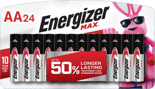 Energizer - MAX AA Batteries (24-pack) 24-pack AA alkaline batteries
