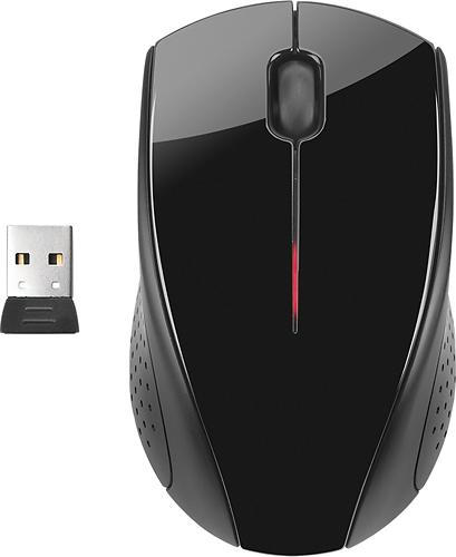 HP - Wireless Optical Mouse - Metallic Gray/Glossy Black