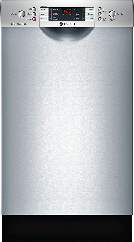 """Bosch SPE68U55UC 800 Series 18"""" Front Control Tall Tub Built-In Dishwasher with Stainless-Steel Stainless Steel"""