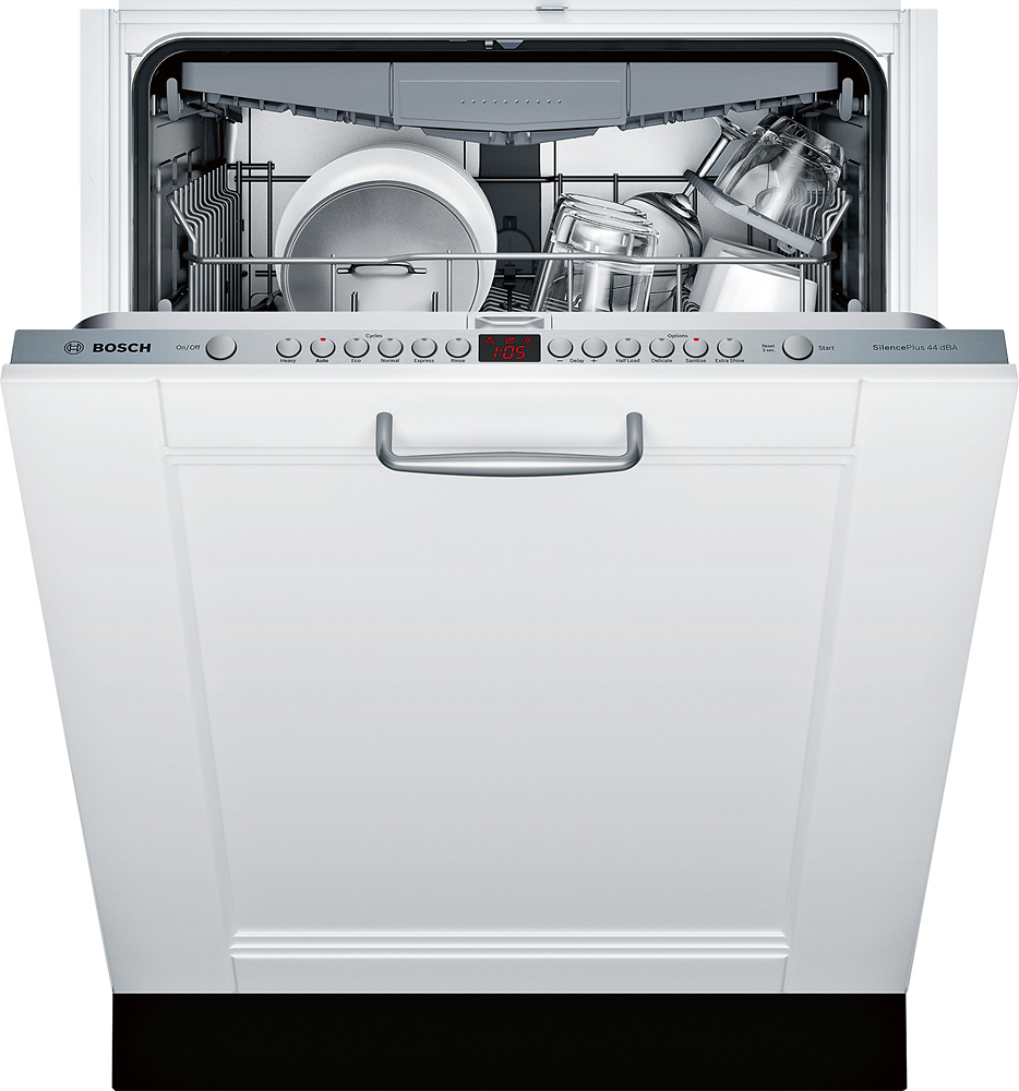 "Bosch SGV68U53UC 800 Series 24"" Tall Tub Built-In Dishwasher with Stainless Steel Custom Panel-Ready"