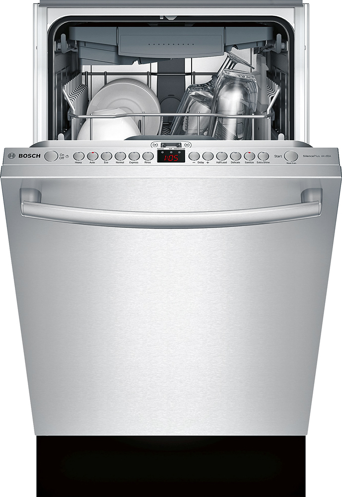 """Bosch SPX68U55UC 800 Series 18"""" Hidden Control Tall Tub Built-In Dishwasher with Stainless-Steel Stainless Steel"""