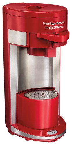 Hamilton Beach - FlexBrew Single-Serve Coffeemaker - Red 9283419