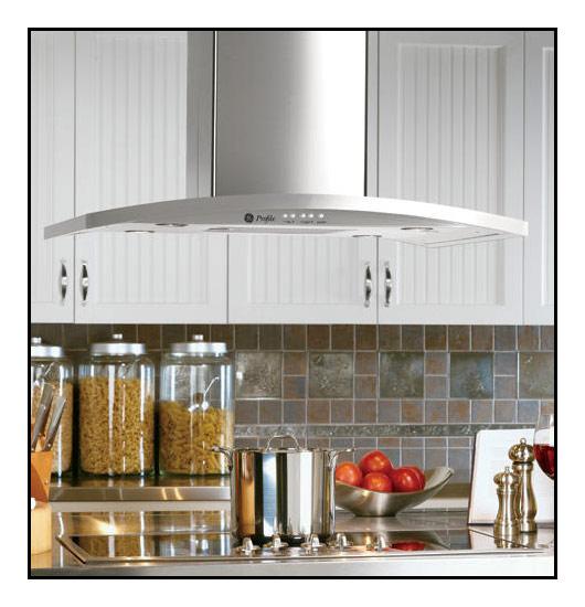 GE - Profile Designer 36 Convertible Range Hood - Stainless steel