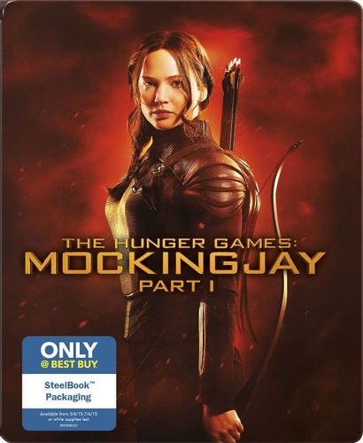 The Hunger Games: Mockingjay, Part 1 [Include Digital Copy] [Blu-ray/DVD] [Ultraviolet] [SteelBook] [2014] 9371099